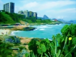 Travel in Brazil: RIO DE JANEIRO (10). Imaging Praia do Diabo (Devil's Beach)