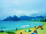 Travel in Brazil: RIO DE JANEIRO (13). Back at Ipanema Beach